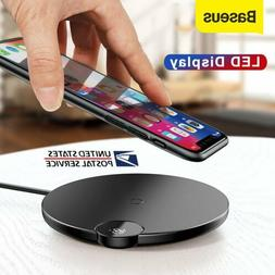 Baseus 10W Qi Wireless Charger Pad Charging Mat for iPhone X