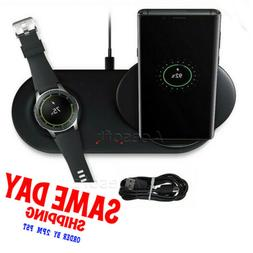 2 in 1 Phone + Watch Wireless Charger Stand Pad for Samsung