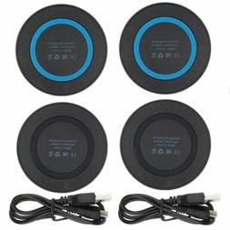 2 Pack QI Wireless Charger Dock Charging Pad For iPhone 8 X