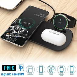 3 In 1 Qi 10W Wireless Charger Dock Charging Pad For AirPods