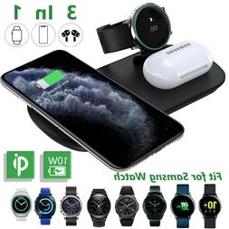 3 In 1 Qi Wireless Charger Dock Charging Pad For Samsung Gal