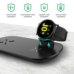 3 in 1 Qi Wireless Fast Charger Charging Pad Dock For iPhone