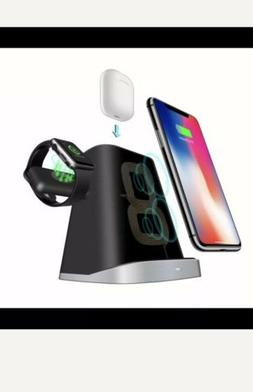 3in1 Wireless Charger Charging Station Dock Pad For Samsung