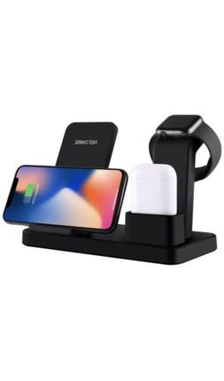 3in1 Wireless Charger Dock For iPhone Watch Airpod Charging