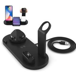 6in1 Qi Wireless Charger Dock Pad For Apple Watch1/2/3/4/5 A
