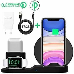 AICase Qi Wireless Charger,3-in-1 Charging Pad,Multiple Devi