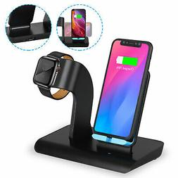 For Apple Watch iWatch iPhone Wireless 2 IN 1 Charging Pad C