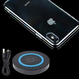 Clear Back Cover Case QI Wireless Charging Pad for Apple iPh