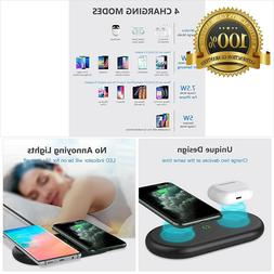 Yootech Dual Fast Wireless Charger, 2 Coils 20W Max 2 in1 Wi