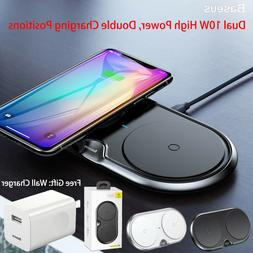 Baseus Dual Wireless Charger 10W Fast Charging Pad iPhone 11