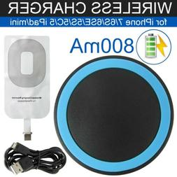 Fast Charger Kit Qi Wireless Receiver Charging Pad For iPhon