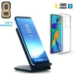 Fast QI Wireless Charging Pad Dock Clear Protective Case Cov