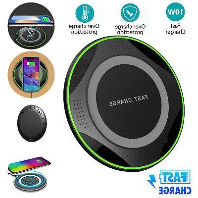qi faster wireless charging charger pad led