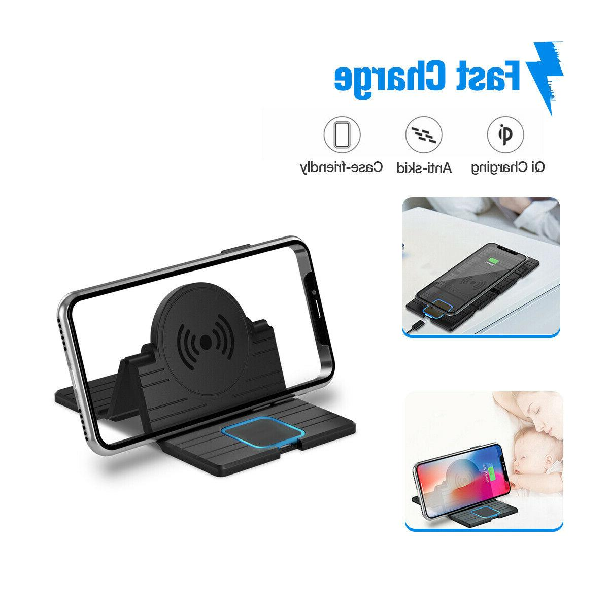 qi wireless car phone charger charging pad