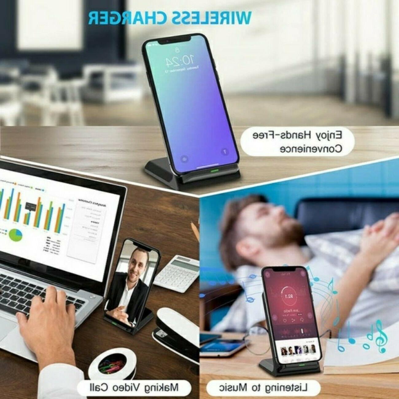 Qi Wireless Fast Charging Stand Dock Pad for LG