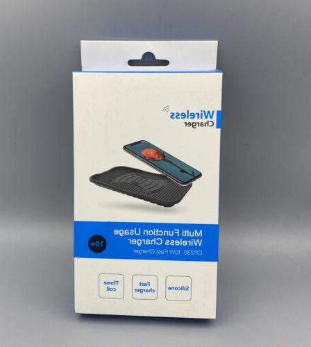 wireless charging pad silicone fast smart charge