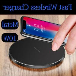 Luxury Qi Fast Wireless Charger Charging Pad For Apple iPhon