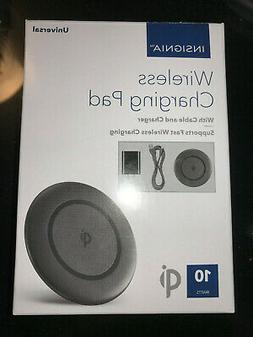 NEW INSIGNIA WIRELESS CHARGING PAD WITH CABLE + CHARGER 10 W