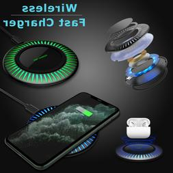 Qi Wireless Fast Charger Charging Stand Pad Mat Dock For iPh