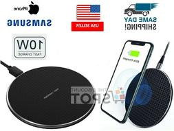 Qi Wireless Fast Charger Charging Dock Pad Mat For Samsung S