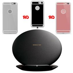 US Fast Qi Wireless Charger Charging Pad Stand Dock + Case F