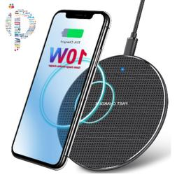 Qi Wireless Fast Charger Charging Pad Dock For iPhone 8 X XR