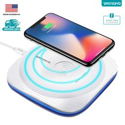 Overtime Qi Wireless Fast Charging Pad White with LED Light