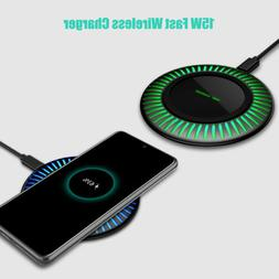 For Samsung Galaxy Note20 Ultra S20+ S10+ 15W Fast Wireless
