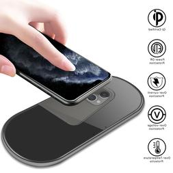 For Samsung Galaxy S20+ Ultra 15W Dual Fast Wireless Charger