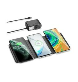 Triple Wireless Charging Pad Qi-Certified Ultra-Slim Charger