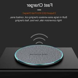 US 15W/10W Fast Charger Qi Wireless Charging Dock Pad Mat Fo