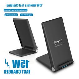 US 15W Fast Charging Stand Mat Pad Qi Wireless Charger For S