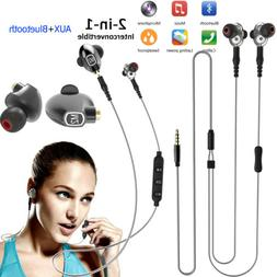 Wireless Bluetooth Headset Headphone with AUX Model Wired fo