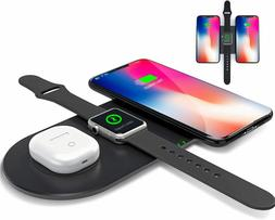 Wireless Charger, 3 in 1 Fast Wireless Charging Pad, Multi D