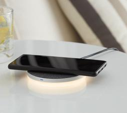 onn. Wireless Charging Pad with LED Night Light