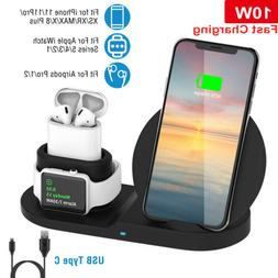 Wireless Fast Charger Charging Pad Dock for Airpods iWatch i