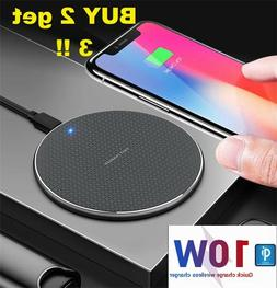 Wireless Fast Charger Pad for iPhone Samsung Android Cell Ph